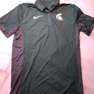 Nike Michigan State Spartans Dri-Fit Golf Polo